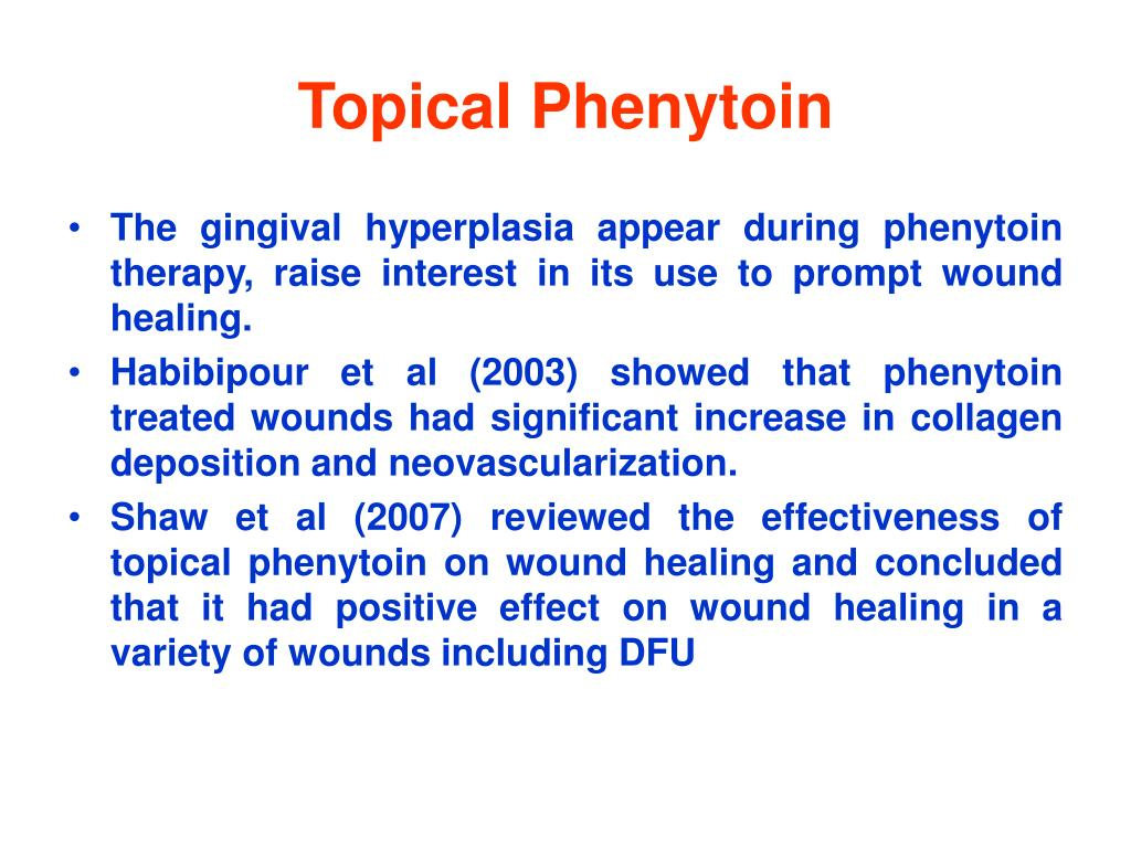 Topical Phenytoin