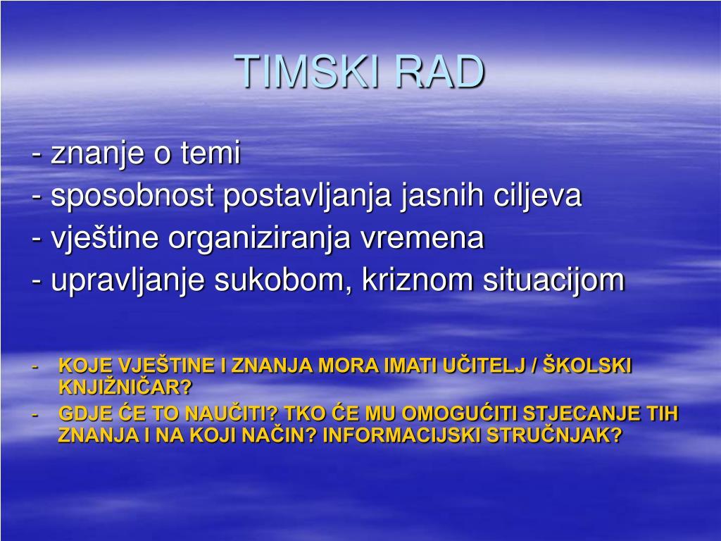 TIMSKI RAD