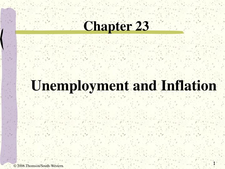 unemployment and inflation n.