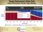 target retirement glide path asset allocation funds age based