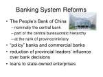 banking system reforms