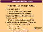 what are tax exempt bonds