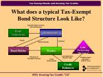 what does a typical tax exempt bond structure look like
