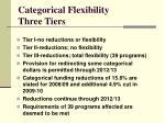 categorical flexibility three tiers