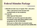 federal stimulus package