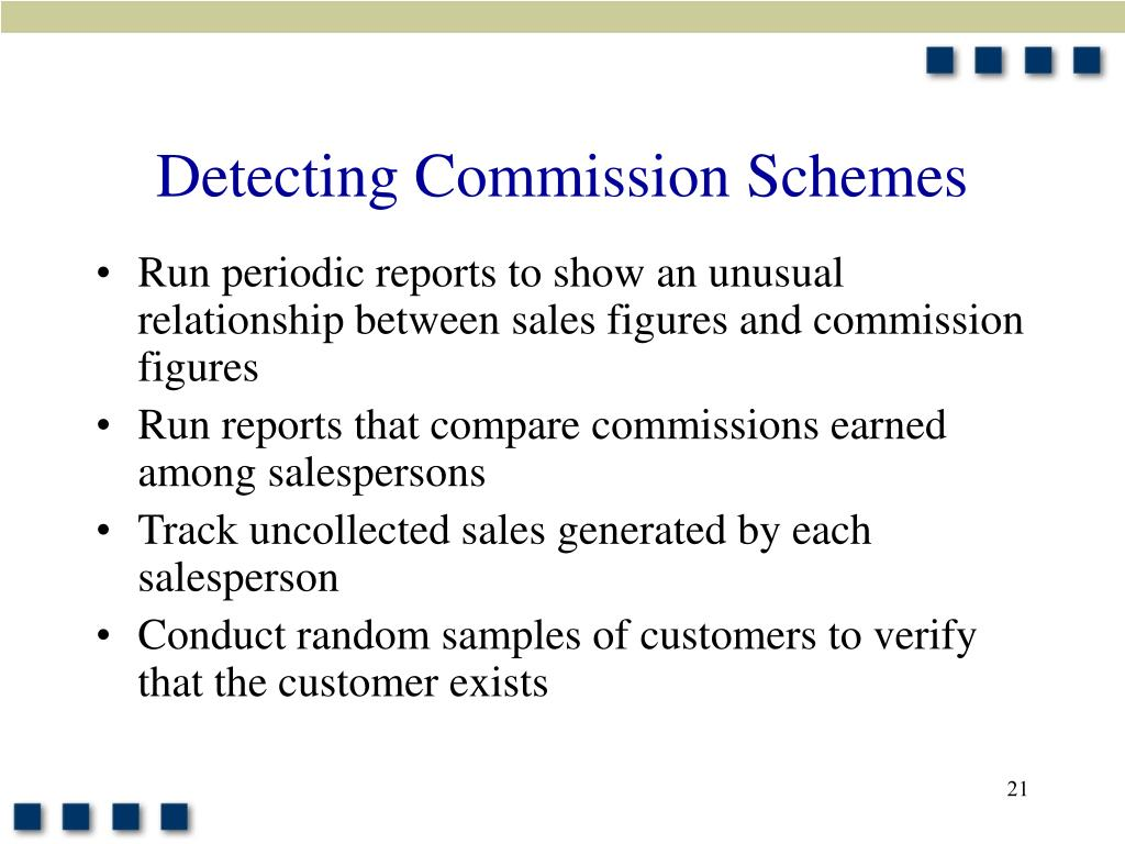 Detecting Commission Schemes