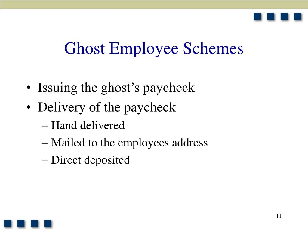 Ghost Employee Schemes