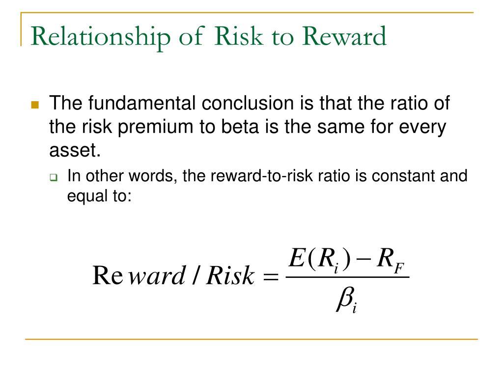 Relationship of Risk to Reward