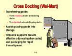 cross docking wal mart
