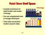 retail store shelf space