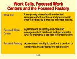 work cells focused work centers and the focused factory
