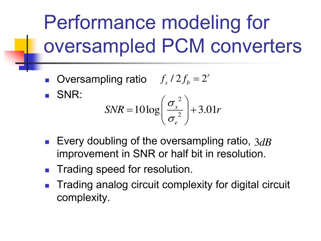 Performance modeling for oversampled PCM converters
