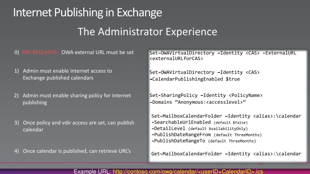 Internet Publishing in Exchange