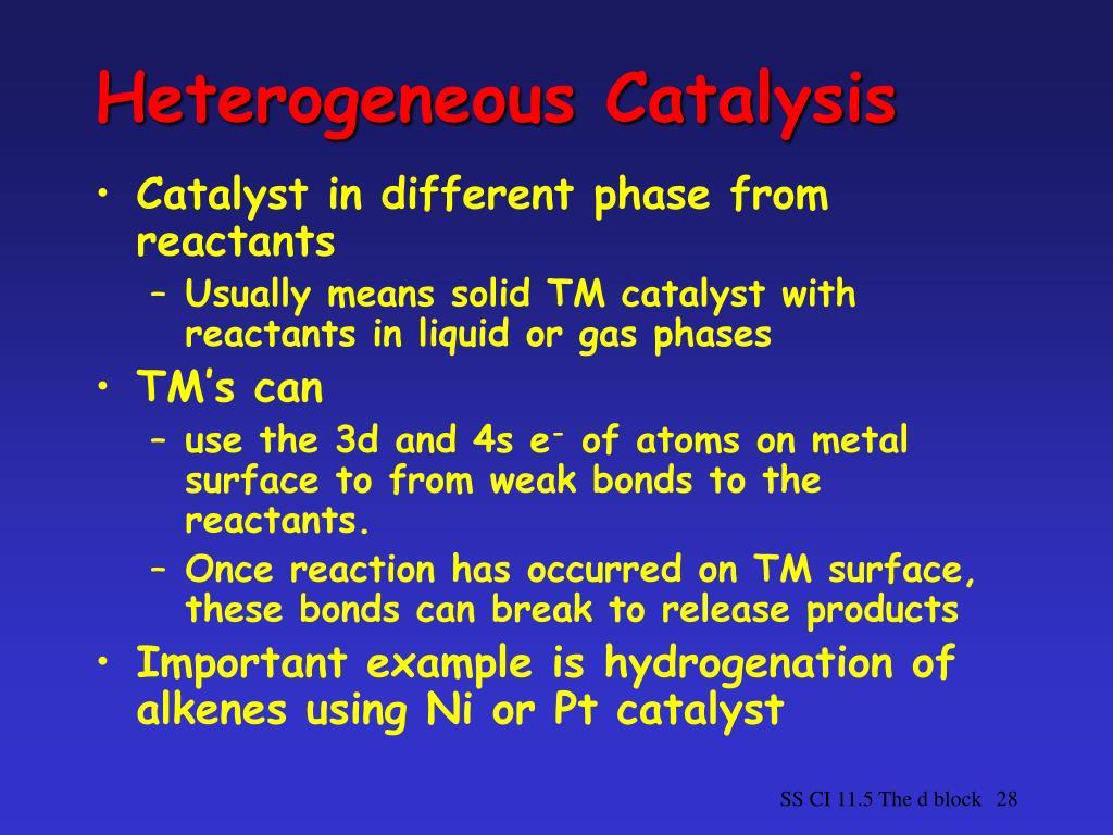 Heterogeneous Catalysis