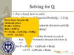 solving for q i