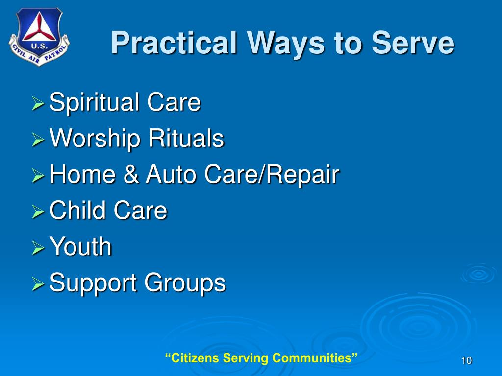 Practical Ways to Serve