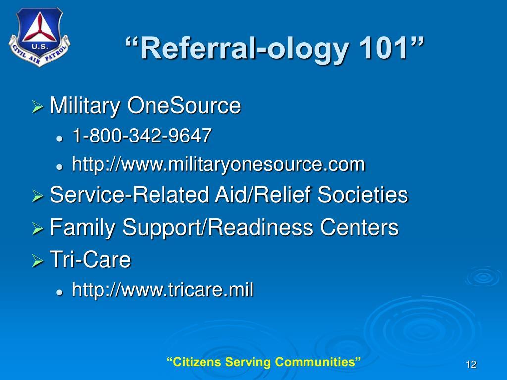 """Referral-ology 101"""