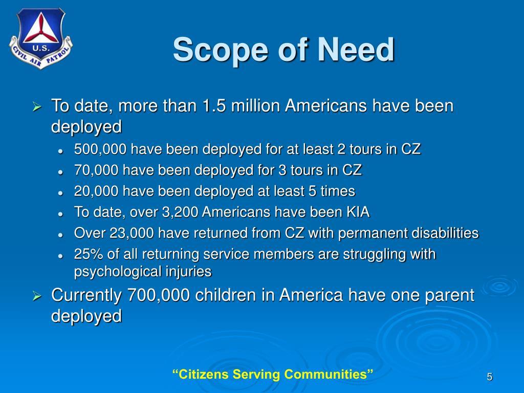 Scope of Need
