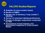 falcpa studies reports