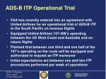 ads b itp operational trial