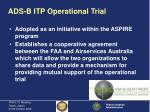 ads b itp operational trial6