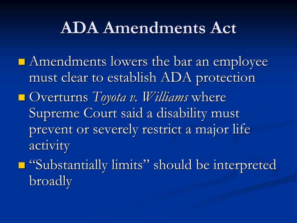 ADA Amendments Act