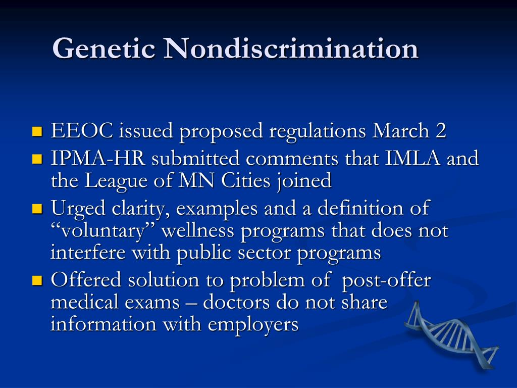 Genetic Nondiscrimination