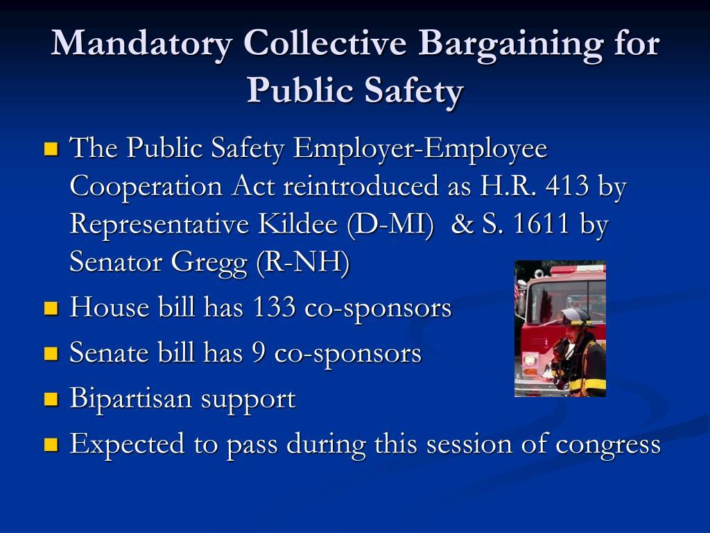 Mandatory Collective Bargaining for Public Safety