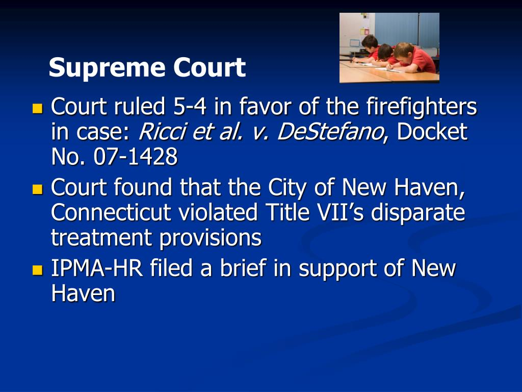 Court ruled 5-4 in favor of the firefighters in case: