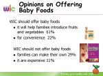 opinions on offering baby foods