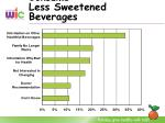 what might help consume less sweetened beverages