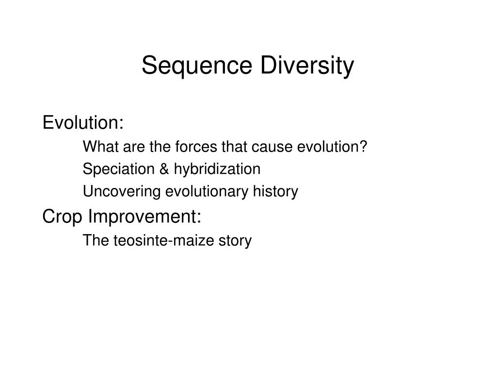 Sequence Diversity