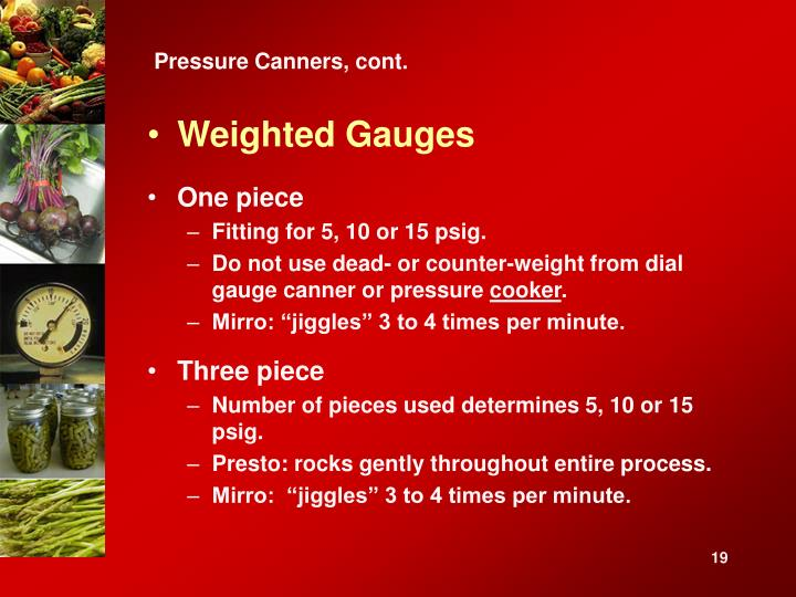 Pressure Canners, cont.