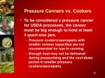 pressure canners vs cookers