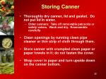 storing canner