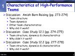 characteristics of high performance teams