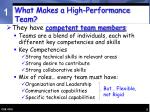 what makes a high performance team9