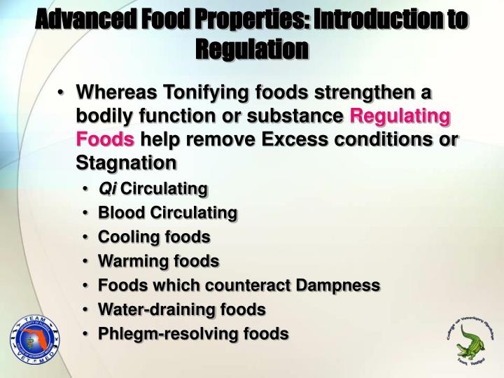 Advanced Food Properties: Introduction to Regulation
