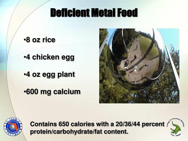Deficient Metal Food