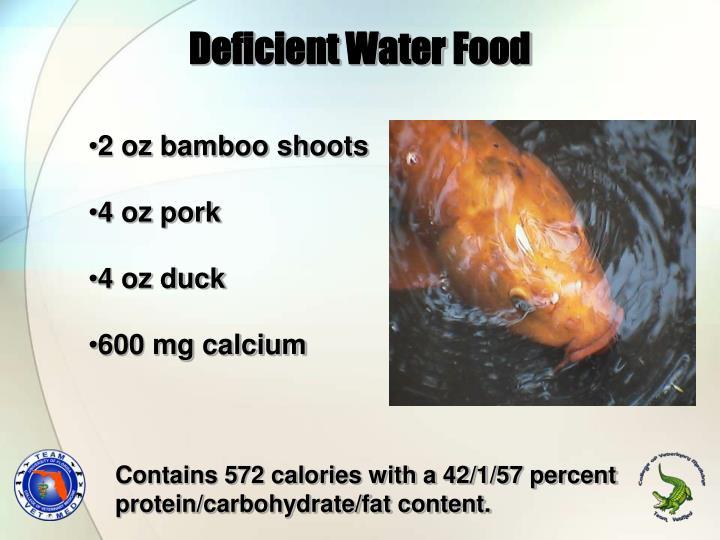 Deficient Water Food