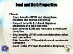 food and herb properties1