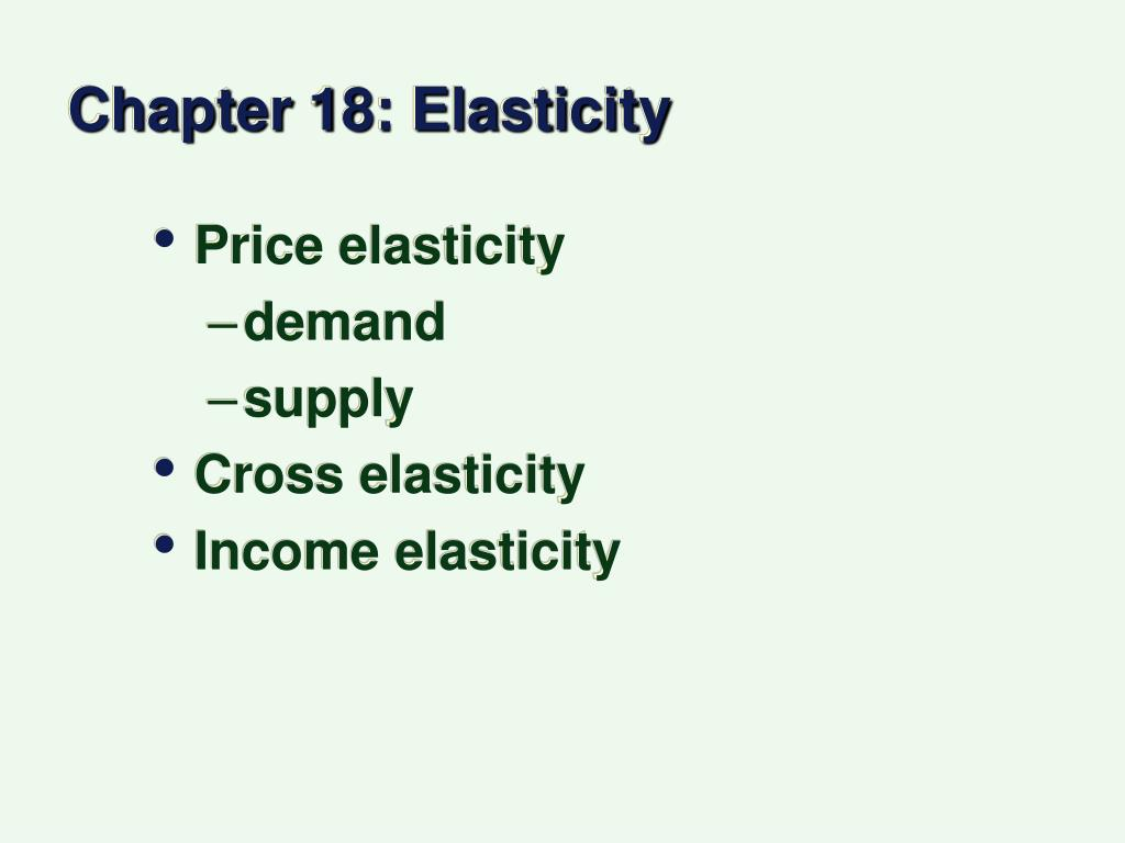 Ppt Chapter 18 Elasticity Powerpoint Presentation Free