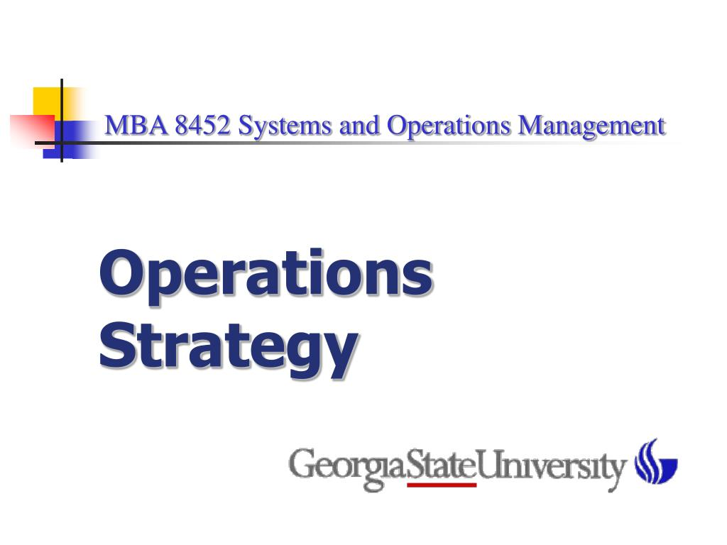 capella mba 6022 strategic operations management
