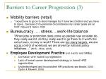 barriers to career progression 3