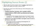 highlighting success stories 2