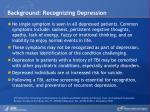 background recognizing depression