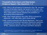 traumatic brain injury and depression evidence report key questions 1 3