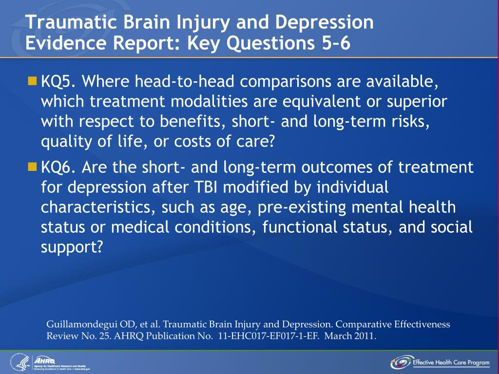 PPT - Traumatic Brain Injury and Depression PowerPoint ...
