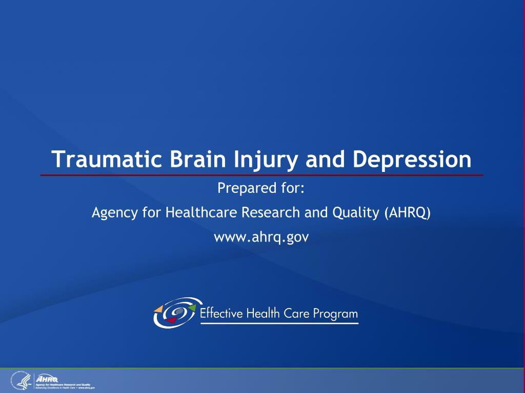 traumatic brain injury and depression l.