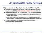 af sustainable policy revision